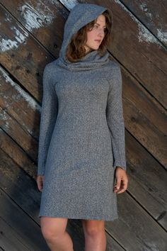 TunicHempOrganic Cotton Cowl Neck Hoodie by AdvikaClothing on Etsy, $115.00