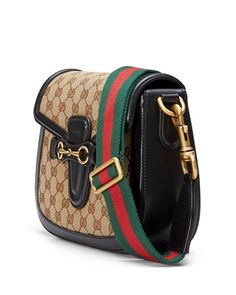2905e8f9174 Gucci beige ebony original GG canvas shoulder bag with black leather.  Hand-painted