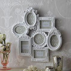 Classic Ornate White Multi Frame