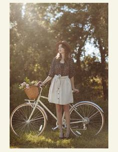 From our Unending Love lookbook, fashion, shopruche.com, bike, bicycle, spring, summer, flowers, basket, vintage