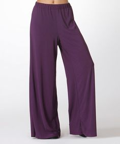 Loving this Plum Palazzo Pants on #zulily! #zulilyfinds