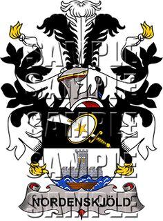 Nordenskjold Family Crest apparel, Nordenskjold Coat of Arms gifts