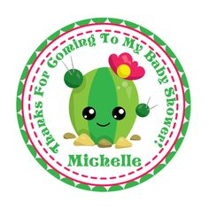 Baby Shower Favors, Baby Shower Decorations, Cactus Stickers, Airplane Party, Elephant Baby Showers, Sticker Paper, Baby Cactus, Llamas, Gender Reveal