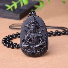 The Luohan Obsidian Pendant