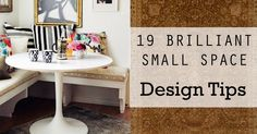 If you're looking for a way to make your home feel bigger, to give your tiny apartment a breath of fresh air, to make your corner nook look like part of the room, or to give your little office space the attention it deserves, there are a few simple ways to get there. I've compiled a helpful list of tips and tricks to make any small space feel bigger, to utilize every inch you have, and to turn a cramped home into a space that breathes! Definitely bookmark this post. We also have a p...
