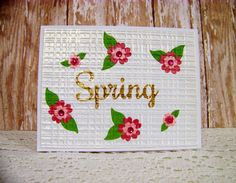Ann Greenspan's Crafts: Pink floral Spring card