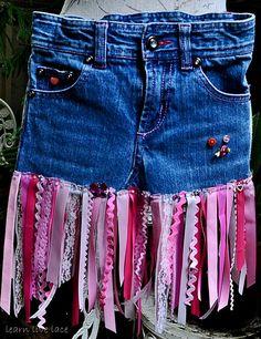 Disney Fairies Toddlers Pink Ribbon Denim Skirt