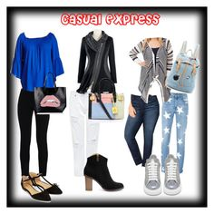 CASUAL EXPRESS by deveeka on Polyvore featuring polyvore fashion style Vanity Room Lucky Brand STELLA McCARTNEY Avenue Edit Alexander McQueen Accessorize Kurt Geiger Paul & Joe Sister RED Valentino clothing