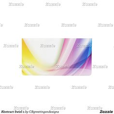 Abstract Swirl 1 Checkbook Cover