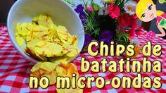 Receita de Chips de batatinha no microondas
