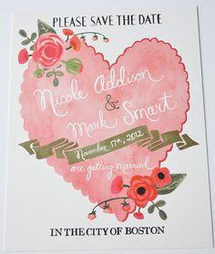 oh so cute wedding invite Vintage Wedding Stationery, Vintage Wedding Theme, Wedding Invitations, Typography Logo, Graphic Design Typography, Wedding Designs, Wedding Styles, Wedding Photos, Save The Date Postcards
