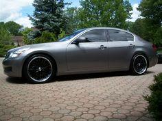 G35 Sedan Black Wheels Platinum Graphite