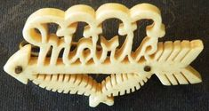 Other War Memorabilia - Very Unique Boer Prisoner of War Art. Bone Carved Brooch Named Manie was sold for on 30 Oct at by OptimalE in Cape Town