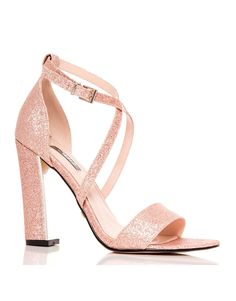 145edefe1e6 Buy Quiz Glitter Cross Block Heel Sandals from the Next UK online shop