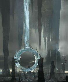 #Fantasy #landscape, artist unknown