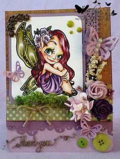 Some Odd Girl Fairy Magic copic card. Guest designer for Bastel-Traum