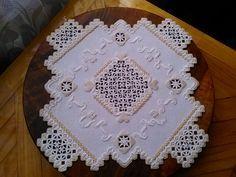 "Салфетка по мотивам дизайна ""Эдельвейс""от Мамен Ариас."
