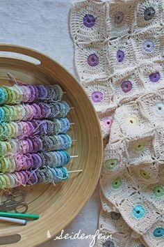 seidenfeins Blog vom schönen Landleben: Verschränkt ! Häkelmikado 2. Teil * crossed crochet - part 2