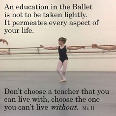 An education in the Ballet