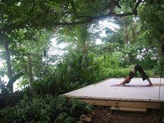 Image result for outdoor yoga platform forest
