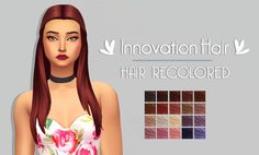 "Innovation Hair | by @mystufforigin The original mesh is required and you can download it here. • 20 naturals and unnaturals hair colours. • Custom Thumbnail ""DOWNLOAD (simfileshare) "" TOU. please do not redistribute my custom content. [ more hair..."