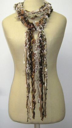 Sand storm Gypsy Fringe Braids Scarf skinny by PurpleSageDesignz, $ 16.00   # Pin++ for Pinterest #