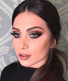 Pinterest: DEBORAHPRAHA  Flavia Pavanelli wearing the perfect smokey eye. Lots of lashes, white eyeliner on the bottom and shimmer
