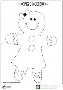 Gingerbread trace worksheets trace-gingerbread-worksheet-for-kindergarten Gingerbread Man Activities, Gingerbread Crafts, Christmas Activities For Kids, Winter Crafts For Kids, Preschool Christmas, Christmas Gingerbread, Noel Christmas, Christmas Colors, Preschool Crafts
