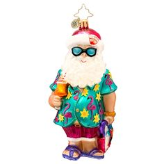 2014 Radko Summer Fun Santa