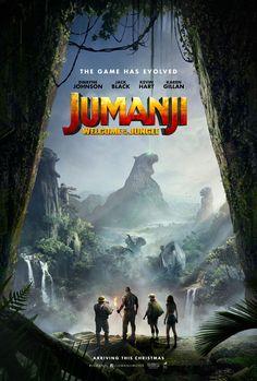 JUMANJI:  WELCOME TO THE JUNGLE (2017) - Dwayne Johnson -  Jack Black - Kevin Hart - Karen Gillan - Movie Poster.