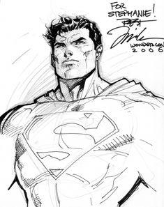 Superman sketch | Jim Lee