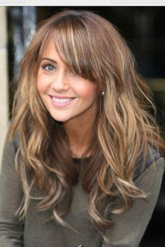 Hair cut and color. love her bangs