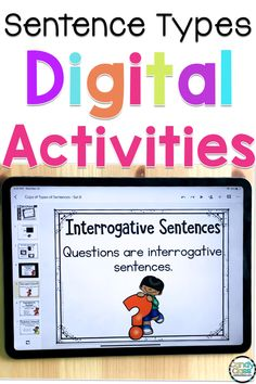 Elementary students can struggle with different sentence types. Your first grade students can use these Sentence Type digital task cards to identify different types of sentences and punctuation. Engaging your students in technology in your classroom is a great way for them to practice their reading and writing skills on computers or tablets during reading groups. You can also use these for distance learning via Google Classroom. Your kiddos should be able to work independently too. Reading Skills, Writing Skills, Reading Response, Reading Groups, Teaching Grammar, Student Teaching, Types Of Sentences, Sentence Types, Punctuation Activities