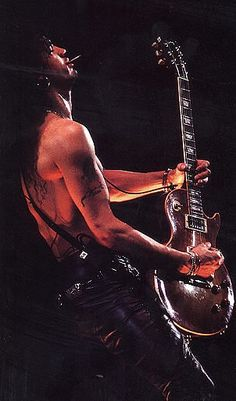 SLASH. can out play anyone in the world. while drunk and high and tired with his eyes closed.