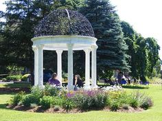 What a gorgeous gazebo, perfect for an afternoon snack.