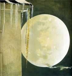 'Moon Madness', tempera paint, by Andrew Wyeth, 1982