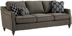 Delaney Sofa by La-Z-Boy  Available in Leather and Fabric.  There is an option for nailhead trim on the sides in brass or silver, AMAZING!