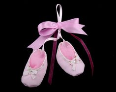 A hand made pair of ballerinas! Ballet Dance, Ballet Shoes, Dance Shoes, Christening Favors, Favours, Ballerinas, Slippers, Pairs, Handmade