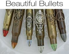 Beautiful Bullets - Steampunk Bullet Pendant Necklace Jewelry Jewellery from ETSY Ammo Jewelry, Jewelry Crafts, Jewelery, Jewelry Ideas, Hardware Jewelry, Metal Jewelry, Jewelry Box, Bullet Casing Jewelry, Bullet Necklace