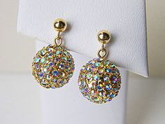 Boulette earrings, classic style lots of sparkle. $68
