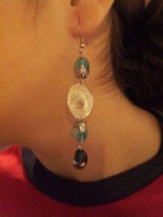 Cercei cu margele albastru-argintiu - arminbijuterii | Crafty Jewelry Accessories, Drop Earrings, Fashion, Moda, Jewelry Findings, Fashion Styles, Drop Earring, Fashion Illustrations