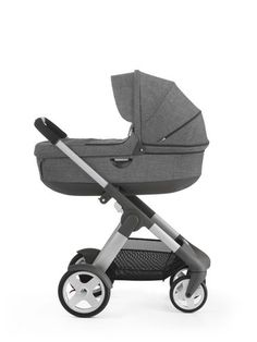 Comfortable luxury stroller with on trend Scandinavian design. A travel system with configurations & a sibling solution to grow with your child.