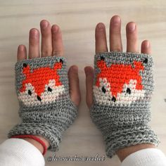 / crochet / lasvaretascrochet / ganchillo / fox / crochetfox / littlefox / zorro / mittens / crochetmittens / guantes / mitones