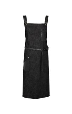 Dungarees pinafore - black denim with imitation leather details e78a79e7f8