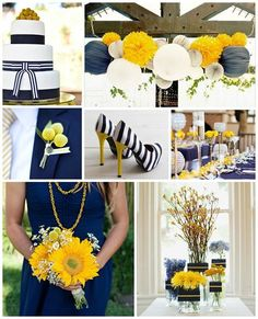 Wedding Colors * Trends - Navy and Yellow Wedding