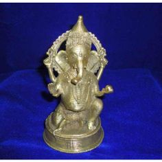Dokra Home Decor Ganesha Statue Sitting