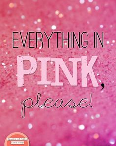 Pink quote for girls, pink wall art quote print, glitter wall art, girls bedroom wall art, girly pri