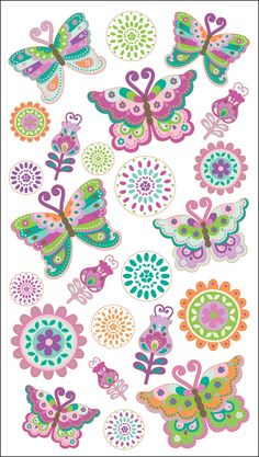 Image detail for -Buttercup Butterflies Sticko Easter/Spring Stickers E5200956