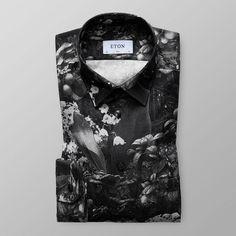 Blommig flanellskjorta - Slim fit | Eton Shirts Sverige