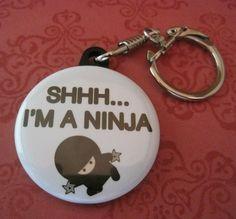 Photo Snaphook Keychain  I'm a Ninja 1 1/2 inch by thepixelprince, $2.00